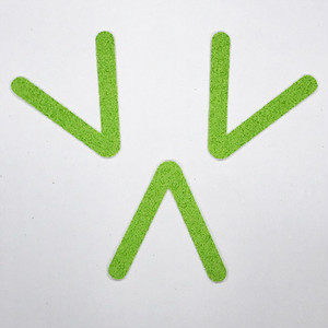 切り文字 A&Cペーパー パルプロックPBR‐006(グリーン) 粘着付 ローマ字「V」