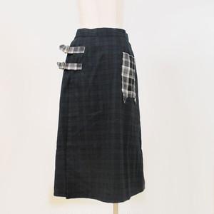 ネコポケットスカートGRN/CMD22-S576