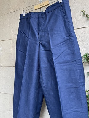 Deadstock 1960s sweden military blue trousers
