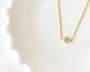 一粒Diamond bijou necklace
