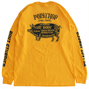 PORK BACK L/S TEE/YELLOW