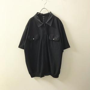 メッシュ半袖シャツ ブラック メンズ 古着