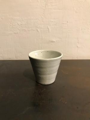 田鶴濱守人 半磁器フリーカップ - 白