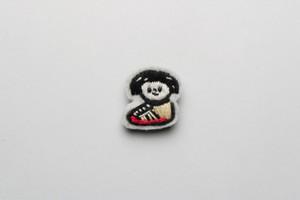 手刺繍ブローチ (INN-STANT女子) r-02  materi 【税込】