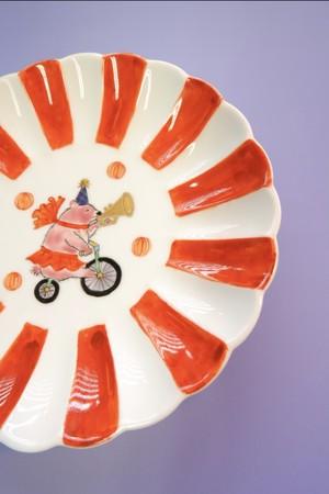 pink bear circus / plate