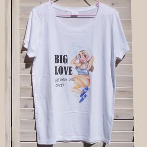 wakuwaku holiday×Hana TakayanagiコラボTシャツ(BIG LOVE)