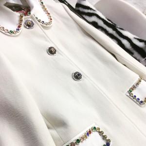White Wool Women Long Coat レディース ウール 白 ロングコート KQDUZ1103