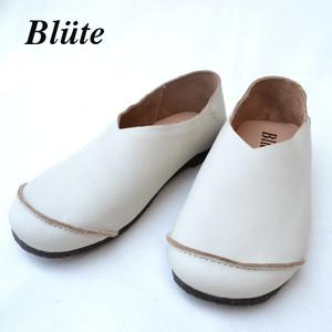 ブリューテ レザースリッポン【blute 】レディース レザーシューズ(white)