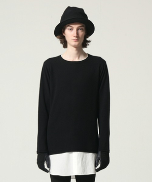 【WIZZARD】MERINO CASHMERE KNIT/BLACK