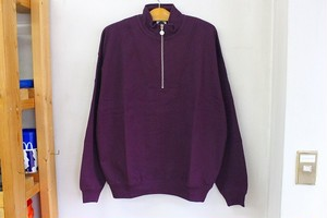 POLAR SKATE CO. ZIP NECK SWEATSHIRT [PRUNE]