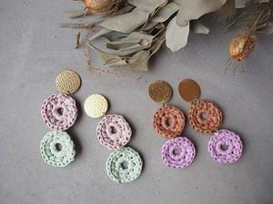 doublecircle paper  pierce/earrings