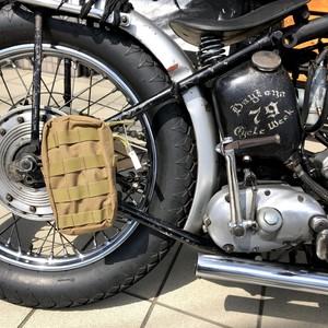 ゴーストギア カーキポーチ バイク乗りに バイカー ツールバッグ チョッパー