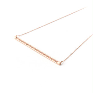 MMD long bar necklace / light