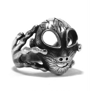 Vintage Sterling Silver Mexican Roswell Alien Ring