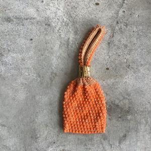 USEDオレンジビーズバッグ