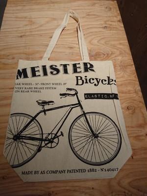 自転車柄トートバッグ