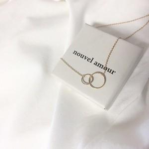 [Nouvel Amour] ダブルサークルネックレス