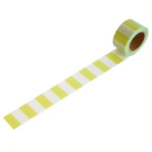 マカロンイエローグリーン(25mm×5m巻・強粘着)RYJ-23 デザイン養生テープ