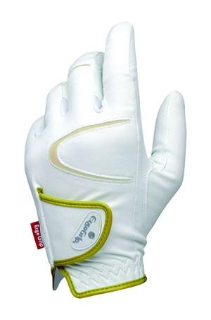 ゴルフ用 EGO-1502(ホワイト×ゴールド)両手 ※レディスサイズのみ
