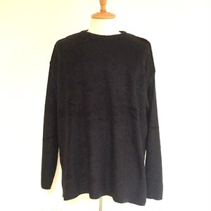 Vicure Pile Crew Neck Big Pullover Black