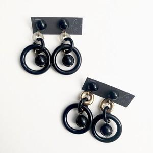 Floating circle earrings No.210