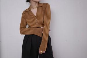 jonnlynx /  knit shirts ( brown / khaki )