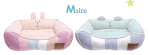 CRAFTHOLIC スクエア型ベッド Mサイズ RAB(ウサギ・ピンク)