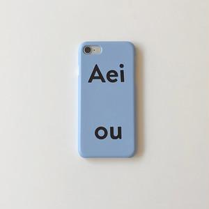 [Aeiou] Hard iPhone case - blueberry soda (7/8,X/Xs,XR,11,11pro)