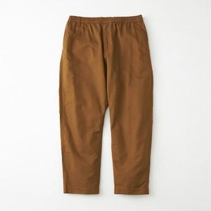 MOLESKIN TAPERED PANTS - BROWN