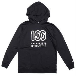 100A LIGHTWEIGHT BACK LOOP HOODY * SQUARE LOGO