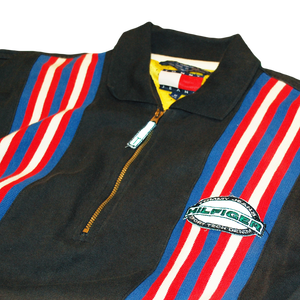 """Tommy Jeans"" Vintage Zipup Rugby Shirt Used"