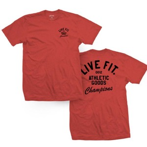 LIVE FIT Athletic Goods Tee - Heather Red