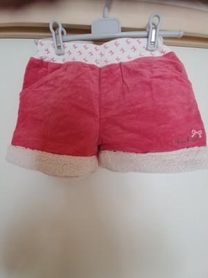 used、HusHusH、140cm、冬素材ショートパンツ、女の子用【★3】古着