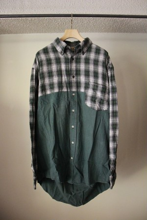 MALION VINTAGE マリオンビンテージ back open check shirts D type
