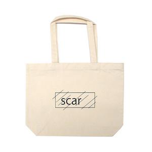 scar /////// OG LOGO STANDARD TOTE BAG / WIDE (Natural)
