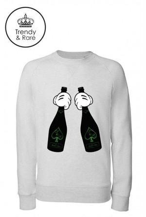 Trendy & Rare (トレンディ&レア) Sweatshirt ACE Heather Grey (Green foil)