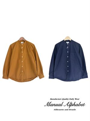 MANUAL ALPHABET マニュアルアルファベット LOOSE FIT バンドカラーシャツ