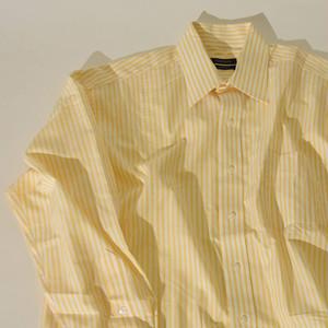 【Lサイズ】 CLUB ROOM クラブルーム STRIPE DRESS SHIRT 長袖シャツ YELLOW 400602190827