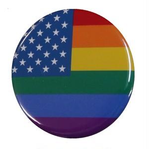 オリジナル缶バッジ〈レインボーアメリカ/Rainbow America〉