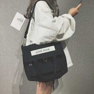 【ファッション小物】ins人気韓国系キャンパス風カジュアル肩掛け帆布バッグ