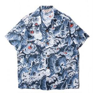 JELADO Aloha Shirt 百虎(ネイビー)[SG52132]