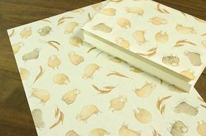 麦と羊のラッピングペーパー