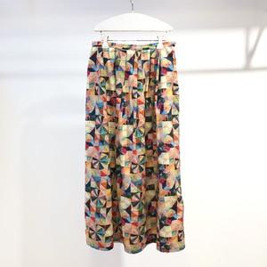 l'atelier du savon / さんかくパッチワークプリント スカート