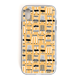 【chairs】 強化ガラス仕上げ phone case (iPhone7/8/X)