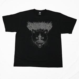 Putrid Cat T-shirt Black × Gray