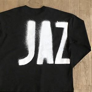 """JS """"JAZZ ステンシル"""" ロングスリーブ Tシャツ(ワイドシルエット)/ブラック"""