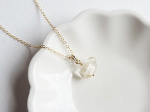 ベビー付個性的なハーキマーダイヤモンドのネックレスC/14kgf[N01259]m