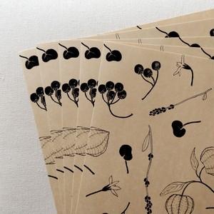 オリガミ型自由紙 道の植物
