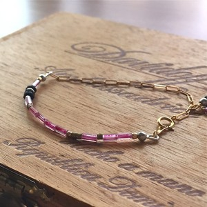 【New Line】 Vintage beads × 14kgf chain  コンビブレスレット