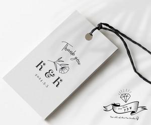 【ウェディングロゴ】288通りから選べるサンキューカード&サンキュータグ④【47円~/枚 】